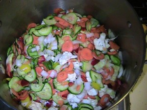 pretty mixed veggies waiting to be relished