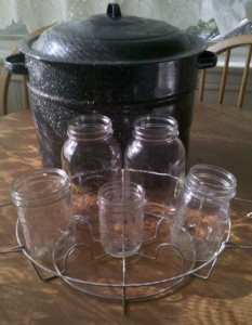 canner with jars